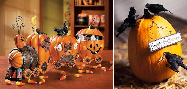 Calabazas para decorar en halloween comedores europeos - Como hacer calabazas de halloween ...