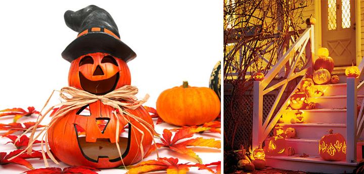 Calabazas para decorar en halloween comedores europeos - Decoracion calabazas halloween ...