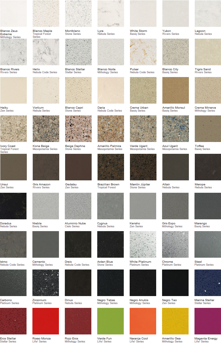 Cuarzo comedores europeos - Colores de granito para cocinas ...