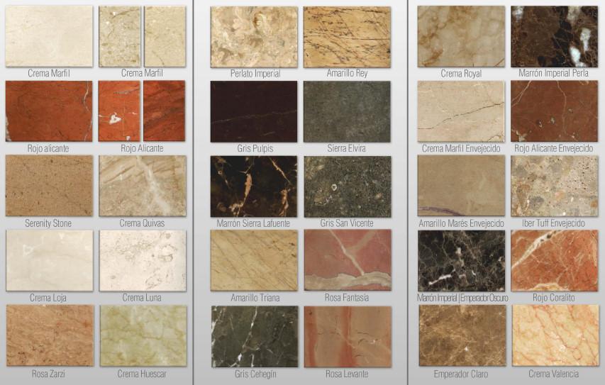 Marmol comedores europeos for Laminas de marmol y granito